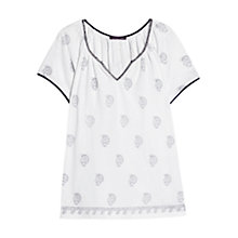 Buy Violeta by Mango Beaded Print T-Shirt, White Online at johnlewis.com