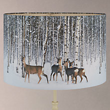 Buy John Lewis Scandi Deer In Woods Lampshade, Multi Online at johnlewis.com