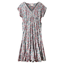 Buy East Arya Print Dress, White Online at johnlewis.com