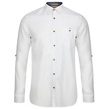 Buy Ted Baker T for Tall Stlouie Linen Shirt, White Online at johnlewis.com