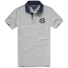 Buy Tommy Hilfiger Lacey Badge Polo Shirt, Cloud Heather Online at johnlewis.com