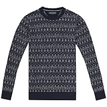 Buy Tommy Hilfiger Erol Fairisle Crew Neck Jumper, Navy Blazer Heather Online at johnlewis.com