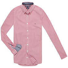 Buy Tommy Hilfiger Lexington Slim Fit Shirt, Grenat/Classic White Online at johnlewis.com