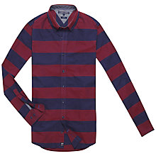 Buy Tommy Hilfiger Horizontal Striped Shirt, Biking Red/Evening Blue Online at johnlewis.com