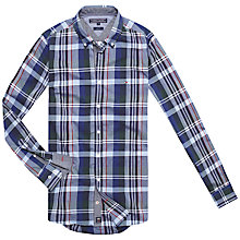 Buy Tommy Hilfiger Nate Check Shirt, Old Green/Evening Blue Online at johnlewis.com