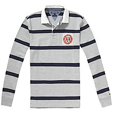 Buy Tommy Hilfiger Tyler Stripe Rugby Shirt, Cloud Heather/Navy Blazer Online at johnlewis.com