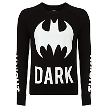 Buy Eleven Paris Logat Batman Print Jumper, Black Online at johnlewis.com
