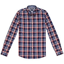 Buy Tommy Hilfiger Lance Checked Shirt, Evening Blue/Granite Online at johnlewis.com