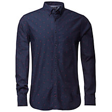 Buy Tommy Hilfiger Star Jacquard Shirt, Indigo/Grenat Online at johnlewis.com
