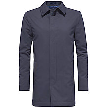 Buy Tommy Hilfiger Falkum Brushed Car Jacket, Navy Online at johnlewis.com