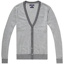 Buy Tommy Hilfiger Hayden Cardigan, Silver Fog Heather Online at johnlewis.com