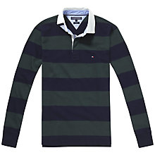 Buy Tommy Hilfiger Basic Block Stripe Rugby Jersey, Old Green/Navy Blazer Online at johnlewis.com