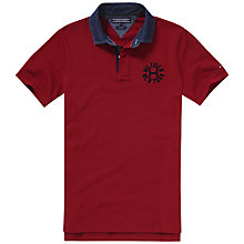 Buy Tommy Hilfiger Lacey Badge Polo Shirt, Biking Red Online at johnlewis.com