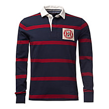 Buy Tommy Hilfiger Tyler Stripe Rugby Shirt, Navy Blazer/Biking Red Online at johnlewis.com