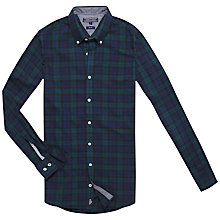Buy Tommy Hilfiger Blackwatch Check Shirt, Evening Blue/Bold Green Online at johnlewis.com