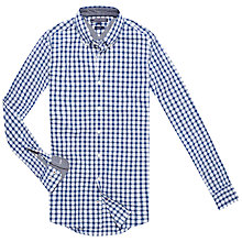 Buy Tommy Hilfiger Polly Check Shirt, Colony Blue/Classic White Online at johnlewis.com