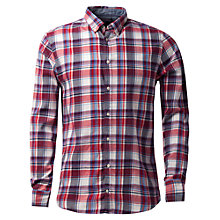 Buy Tommy Hilfiger Nardo Checked Shirt, Snow White/Evening Blue Online at johnlewis.com