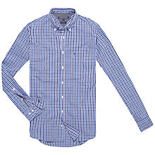 Buy Tommy Hilfiger Fran Gingham Check Shirt, Wading Blue/Bright Blue Online at johnlewis.com