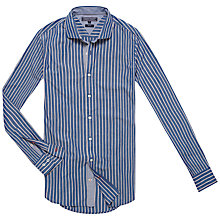 Buy Tommy Hilfiger Sunland Stripe Shirt, Dutch Navy/Classic White Online at johnlewis.com