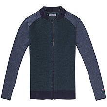 Buy Tommy Hilfiger Carson Baseball Zip Knit, Navy Blazer/Heather Online at johnlewis.com