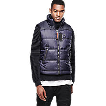 Buy G-Star Raw Whistler Puffer Bomber Gilet, Mazarine Blue Online at johnlewis.com