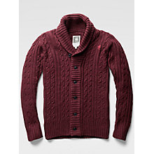 Buy G-Star Raw Higging Cable Knit Cardigan, Dark Fig Heather Online at johnlewis.com