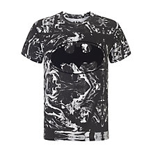 Buy Eleven Paris Logflok Batman Print T-Shirt, Black/White Online at johnlewis.com