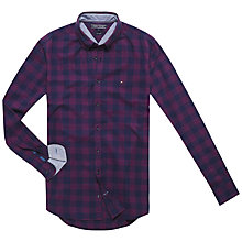 Buy Tommy Hilfiger Ray Checked Shirt, Pinot/Peacoat Online at johnlewis.com