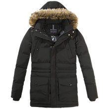 Buy Tommy Hilfiger Darren Parka Coat, Flag Black Online at johnlewis.com