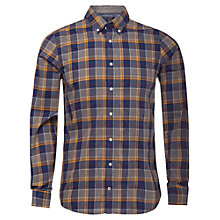 Buy Tommy Hilfiger Foto Check Shirt, Peacot/Golden Yellow Online at johnlewis.com