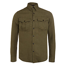 Buy G-Star Raw Rovic Cotton Shirt, Forest Night Online at johnlewis.com