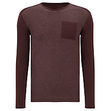 Buy G Star Harm Long Sleeve Tee, Dark Fig Online at johnlewis.com