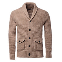 Buy Tommy Hilfiger Maddy Shawl Cardigan, Boston Khaki Online at johnlewis.com