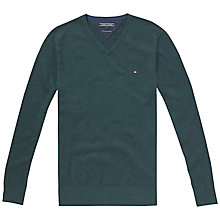 Buy Tommy Hilfiger Pima Cotton Cashmere V-Neck Jumper Online at johnlewis.com