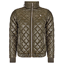 Buy G Star Meefic Bomber Jacket, Forest Night Online at johnlewis.com