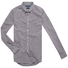 Buy Tommy Hilfiger Checked Slim Fit Shirt, Plum Perfect/Cloud Heather Online at johnlewis.com