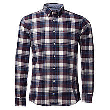 Buy Tommy Hilfiger Ryan Checked Shirt, Plum Perfect/Peacoat Online at johnlewis.com