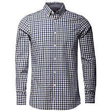 Buy Tommy Hilfiger Nicky Checked Shirt, Charcoal Heather/Medieval Blue Online at johnlewis.com