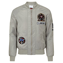 Buy Eleven Paris Mosnote Defy Gravity Bomber Jacket, Silver Online at johnlewis.com