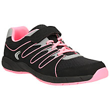 Buy Clarks Cross Dart Trainers, Black/Pink Online at johnlewis.com