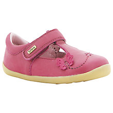 Buy Bobux Flutter T-Bar Leather Shoes, Pink Online at johnlewis.com