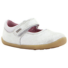 Buy Bobux Shiny Dancer MJ Leather Shoes, Silver Online at johnlewis.com