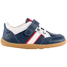 Buy Bobux Speed Racer Sports Leather Shoes, Navy/White Online at johnlewis.com