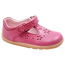 Buy Bobux Delicate Dandelion T-Bar Shoes, Pink Online at johnlewis.com