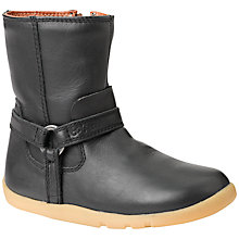 Buy Bobux Little Miss Pony Leather Boots, Black Online at johnlewis.com