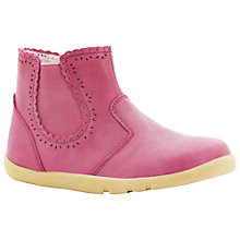 Buy Bobux Lucky Lacey Leather Chelsea Boots, Pink Online at johnlewis.com