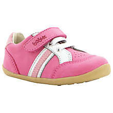 Buy Bobux Trackside Sports Leather Shoes, Pink/White Online at johnlewis.com