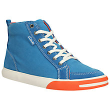 Buy Clarks Club Pop High Top Trainers, Blue Combo Online at johnlewis.com