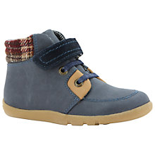 Buy Bobux Little Lumberjack Leather Shoes, Navy Online at johnlewis.com