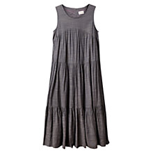 Buy East  Crinkle Cotton Dress, Ash Online at johnlewis.com
